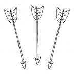 3 arrows down